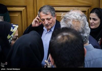 محسن هاشمی در جلسه منتخبین پنجمین دوره شورای شهر برای انتخاب شهردار تهران