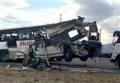تصادف زنجیرهای اتوبوس با 36 کشته