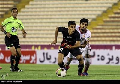 دیدار تیم های فوتبال سیاه جامگان و فولاد خوزستان