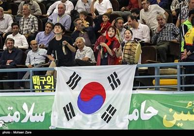 دیدار تیم ملی والیبال ایران با کره جنوبی - اردبیل