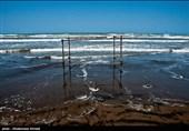 گرگان| دریای خزر از ابتدای فروردینماه مواج و طوفانی است