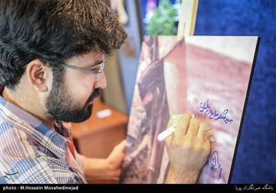 سید شهاب واجدی در مراسم رونمایی از مستند جنگ، دوربین، من