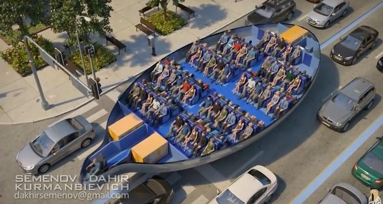 مفهومی شگفتانگیز از آینده حمل و نقل شهری+فیلم و عکس