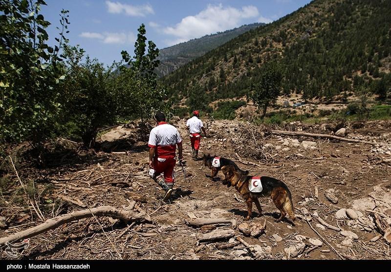عملیات جستجو برای یافتن مفقودان سیل علیآباد کتول - گلستان