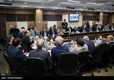 حضور محمد شریعتمداری وزیر پیشنهادی صنعت، معدن و تجارت در جمع اعضای اتاق بازرگانی ایران
