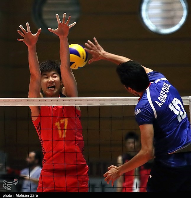 دیدار تیمهای والیبال ایران و چین - اردبیل