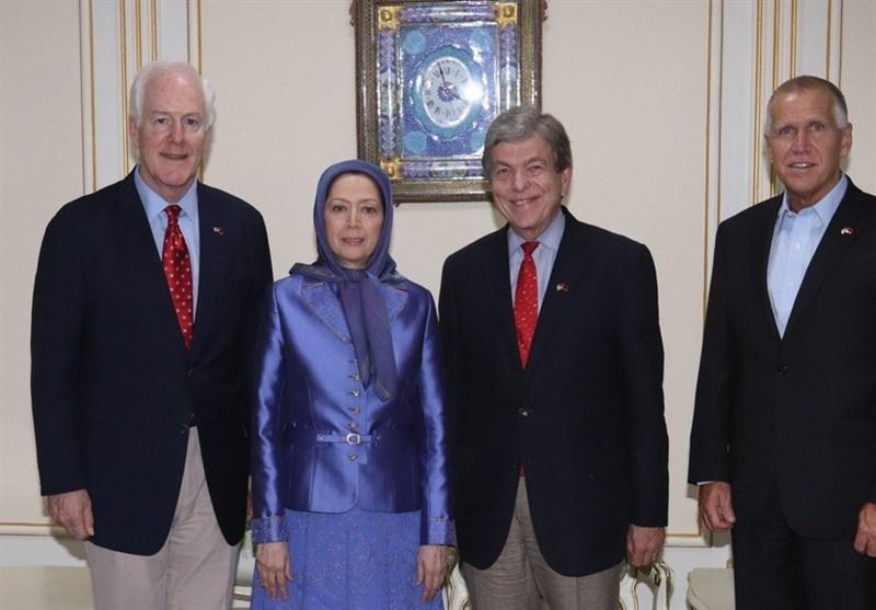 دیدار 3 سناتور آمریکایی با سرکرده منافقین/تنفس مصنوعی به تروریستها