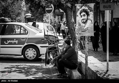 خیابانهای نجف آباد در سوگ شهادت محسن حججی