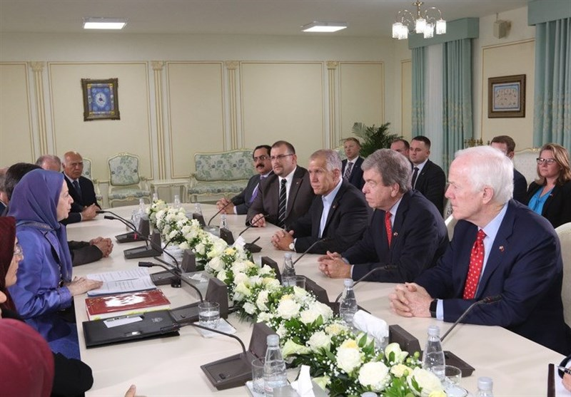 US Senators, Head of Anti-Iran MKO Terror Group Meet in Albania