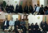 خبرنگاران پیشوا و ورامین با «امالشهدا جنیدی» دیدار کردند