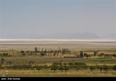 حفر حدود 40000 حلقه چاه غیرقانونی و الگوی اشتباه کاشت یکی از دلایل اصلی کاهش میزان آب دریاچه است. پس از عقب نشینی آب دریاچه و کاهش آب های زیرزمینی ,حال زمین های کشاورزی رو به خشکی رفته اند.