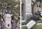 سرنگونی مجسمه نژادپرستی /کارولینا
