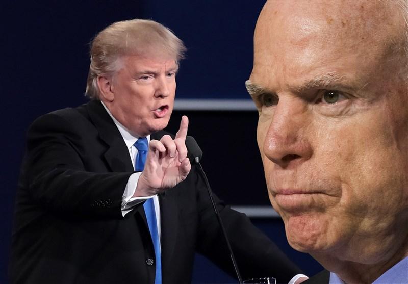 عدم دعوت از ترامپ برای سخنرانی در مراسم تدفین مککین