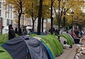 چادرهای مهاجران در پاریس