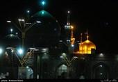 حرم امام رضا(ع) در شب شهادت فرزند بزرگوارشان غرق ماتم و عزا بود