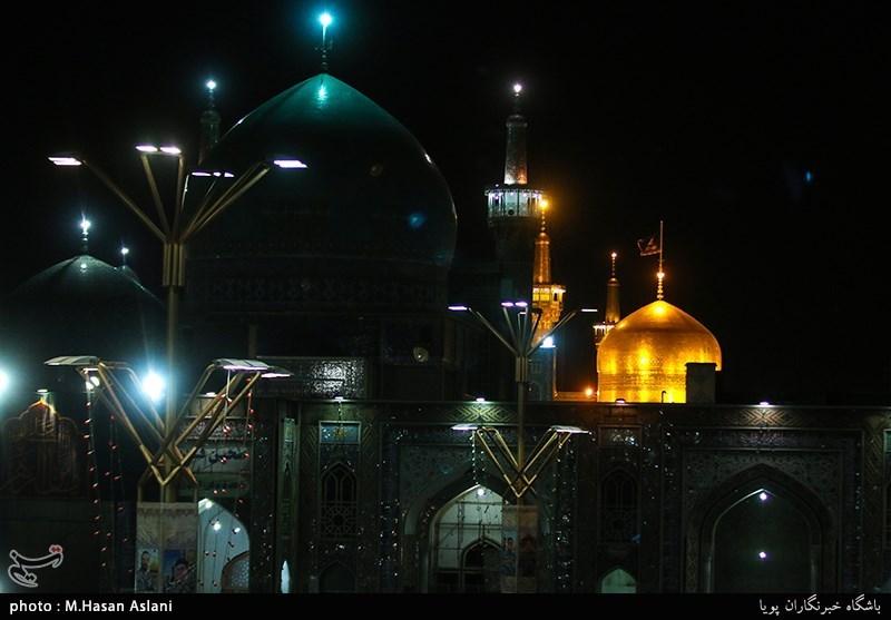 مراسم دعای توسل در حرم رضوی برای یادبود جانباختگان زلزله کرمانشاه برگزار شد
