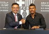 پائولینیو: امیدوارم با انجام بازیهای خوب پاسخ اعتماد بارسلونا را بدهم + عکس