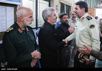 سردار ساجدی نیا در مراسم بزرگداشت شهید مدافع حرم محسن حججی