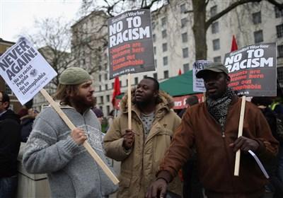 تظاهرات در سراسر بریتانیا علیه نژادپرستی و اسلام هراسی