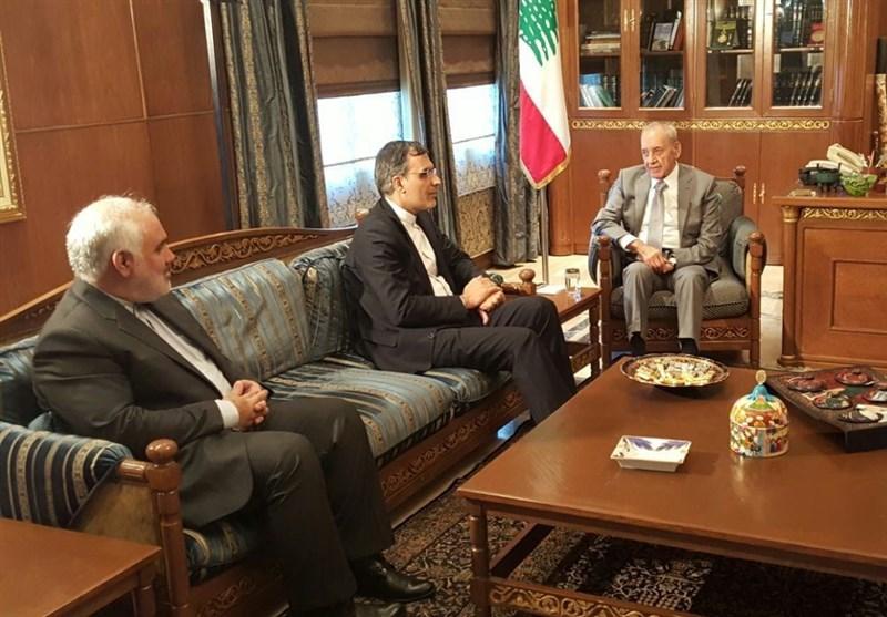 Iranian Deputy FM, Lebanese Speaker Discuss Closer Ties