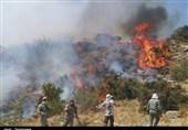 """درخواست کمک از مردم برای مهار آتش جنگلهای روستای """"پیله و سلسی"""" مریوان/4 نفر فوتی قابل شناسایی نیستند"""