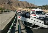 تصادف پراید با سرنشینان خودروی متوقف شده