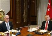 تاکید اردوغان و ماتیس بر حفظ تمامیت ارضی عراق و سوریه/ابراز ناراحتی اردوغان از کمکهای آمریکا به کردها