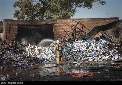 آتش سوزی در خیابان فدائیان اسلام