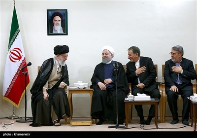 Leader Meets President Rouhani's New Cabinet