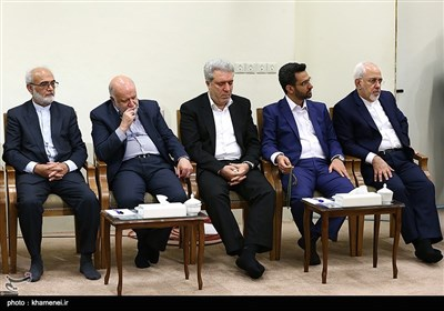 Leader Meet President Rouhani's New Cabinet
