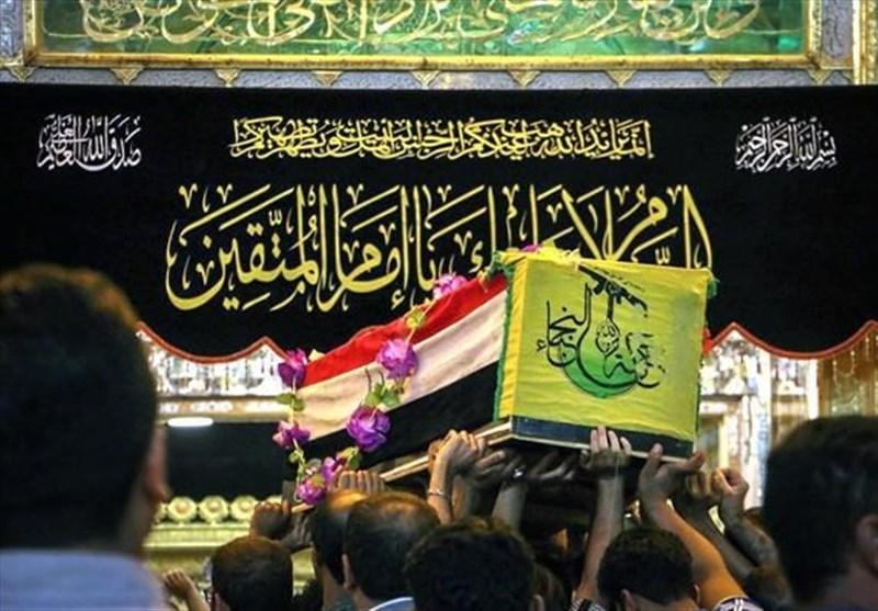 تصاویر/ تشییع شهدای «نُجَباء» در مثلث مرزی عراق، سوریه و اردن