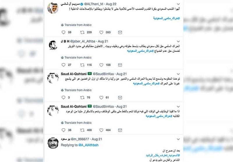 کمپین فعالان عربستانی