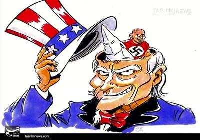 کاریکاتور/ فصلنوین نژادپرستیوتروریسم آمریکایی