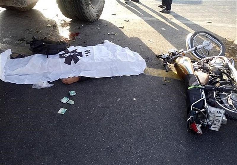 مرگ راکب موتورسیکلت بر اثر تصادف با تریلر