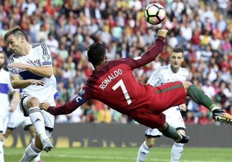 پرتغال با هتتریک رونالدو پیروز شد / فرانسه به آسانی از سد هلند گذشت