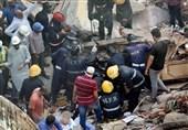 34 کشته و 32 زخمی بر اثر ریزش ساختمان+فیلم و عکس