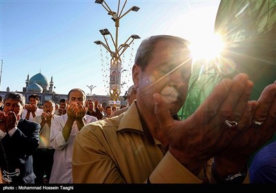 People in Iran's Holy City of Mashhad Perform Eid Al-Adha Prayer