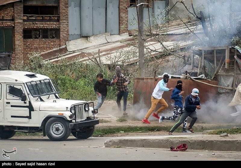 درگیری پلیس هند و نمازگزاران عید قربان - کشمیر