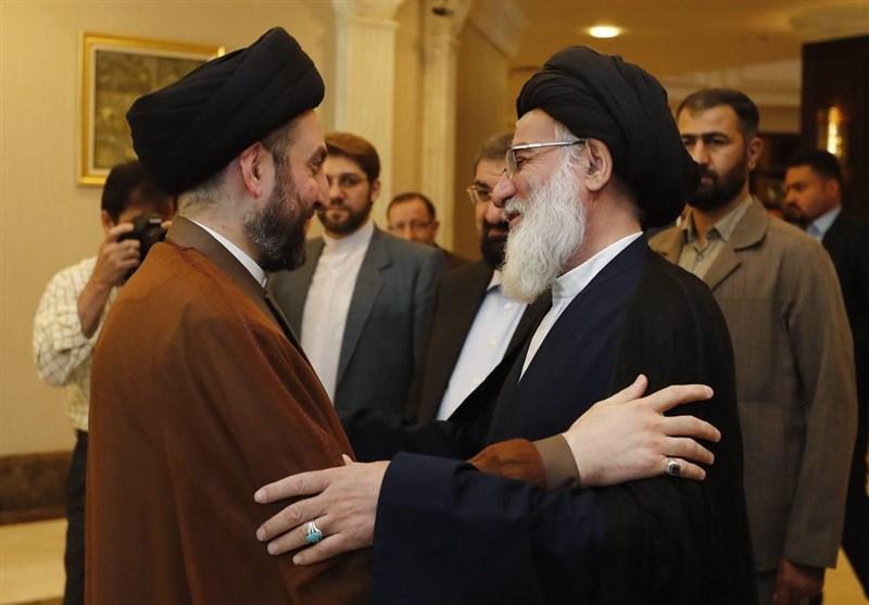 الحکیم یبحث العلاقات العراقیة الإیرانیة مع آیة الله هاشمی الشاهرودی