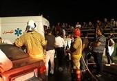 مصدومیت 4 نفر بر اثر تصادف پراید در بزرگراه شهید کاظمی