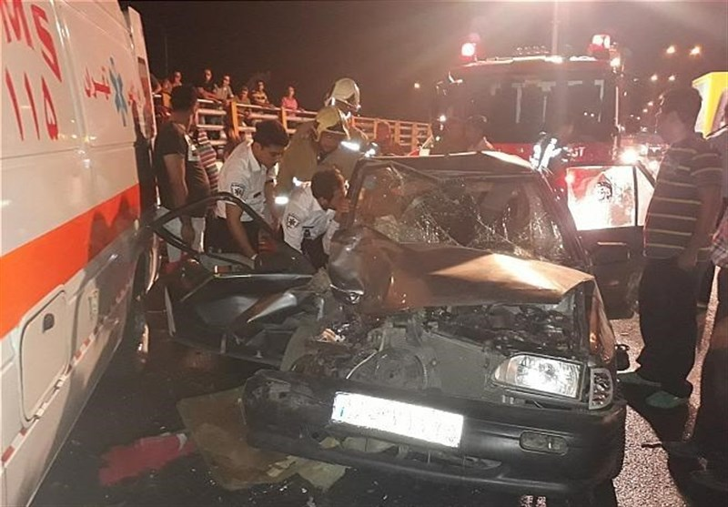 مرگ 5 نفر در تصادف بامدادی 3 خودروی پراید