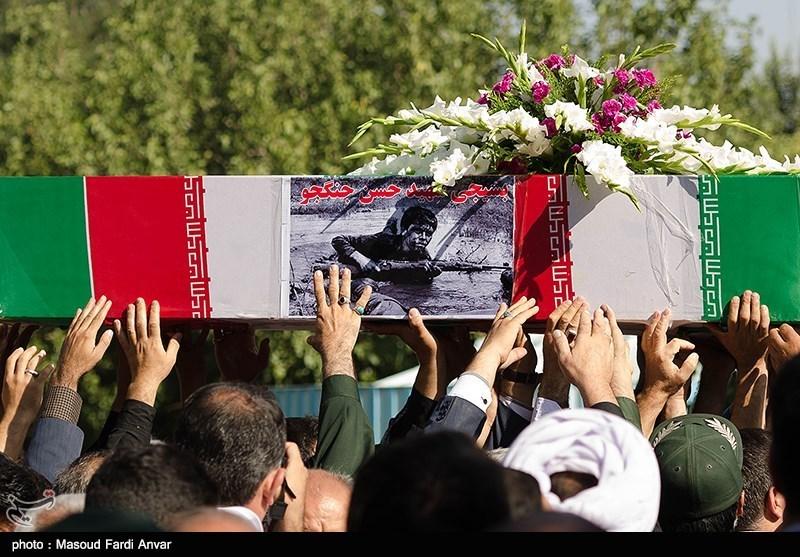 پیکر 4 شهید دوران دفاع مقدس وارد فرودگاه شهید هاشمی نژاد مشهد شد