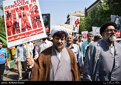 Protest Rally Held in Tehran in Support of Myanmar Muslims