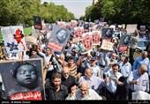راهپیمایی نمازگزاران در حمایت از مسلمانان میانمار