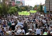 راهپیمایی مردم قم در محکومیت جنایت میانمار
