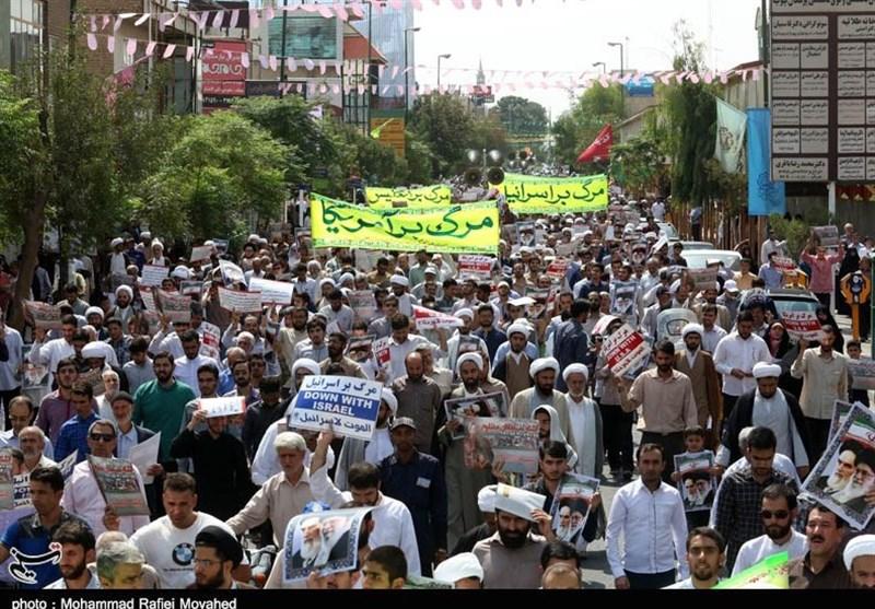 راهپیمایی عظیم مردم قم در واکنش به هنجارشکنی اغتشاشگران / دیار انقلاب بازهم درخشید + فیلم