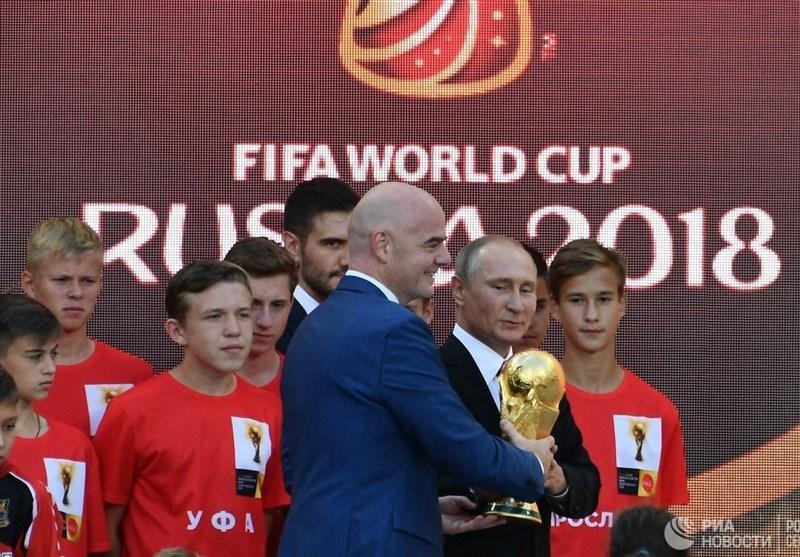 بدرقه جام جهانی ۲۰۱۸ توسط پوتین و اینفانتینو + تصاویر ,