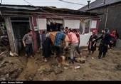 سیلاب در تالش به چند واحد تجاری و یک مرغداری خسارت جدی وارد کرد