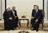 رئیسا ایران وکازاخستان یؤکدان ضرورة تعزیز العلاقات بین طهران وآستانة