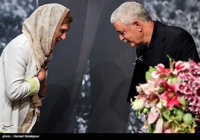 محمدحسن خوشنویس و فاطمه معتمدآریا در آیین نکوداشتهای نوزدهمین جشن سینمای ایران